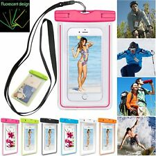 UNIVERSAL LUMINOUS GLOW WATERPROOF POUCH CASE COVER FOR NOKIA 3 5 6