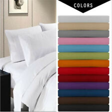 Radiant Interior Finish Solid Deep Pocket 4 Piece Bed Sheet Set Queen King Sizes