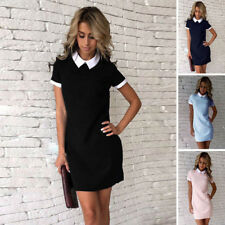 New Womens Summer Casual Short Sleeve Dresses Party Cocktail Bodycon Short Dress