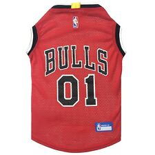 Chicago Bulls NBA Officially Licensed Pets First Dog Pet Mesh Red Jersey