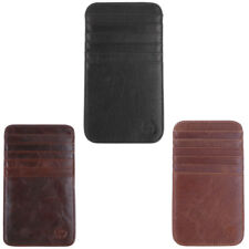 Slim Credit Card Holder Mini Wallet ID Case 12-slot Purse Bag Pouch Brown
