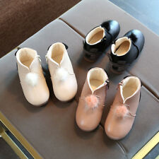 Winter New Toddler Girls Warm Fashion Boots Kids Girl Cotton Boots Shoes Plush