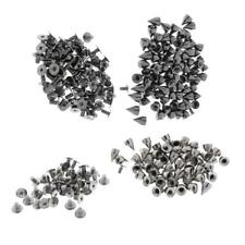 Trendy 9.5mm Silver/Black Spots Cone Screw Metal Studs Rivet Leather Punk Spikes