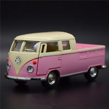 VW T1 Bus Pickup 1963 1:34 Model Bus Toys Alloy Diecast Open two doors Gifts New
