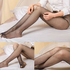 Women Sexy Pinup Tight Sparkle Rhinestone Fishnet Stockings Pantyhose Socks new