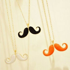 NEW Big Mustache Pendant Colour Charm Gold Necklace Chain Women Fashion Jewelry