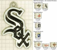 MLB team logo decorative fobs (AL Central), various designs & keychain options