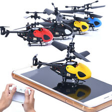 2CH Mini RC Helicopter Radio Remote Control Aircraft With LED Night Fly For Kids