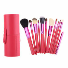 12PCS Makeup Brushes Cosmetics Blusher Lip Foundation Powder set Cup Holder Case