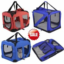 Portable Fabric Pet Cat Dog Cage Carrier Bag Puppy Crate Kennel Bed 2 Color
