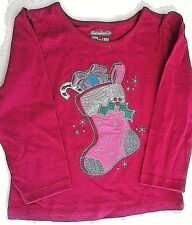 GARANIMALS HOLIDAY CHRISTMAS STOCKING GIRLS SHIRT 18 MONTHS 3T OR 4T NWT