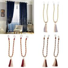 Tassel Curtain Tie Back Holdbacks Tieback Curtain Rope Clip Buckle Hold 63cm