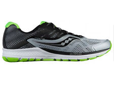 NEW MENS SAUCONY RIDE 10 RUNNING SHOES GREY / BLACK / SLIME