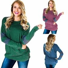 Autumn Women Ladies Casual Pullover Long Sleeve Loose Tops Tee T-Shirt Blouse