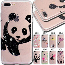 For Apple iPhone Rubber TPU Case Silicone Soft Cover Skin Shine Glitter Gel Back