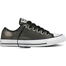 Converse Chuck Taylor All Star Sequin Ox Gunmetal Textile Trainers Shoes