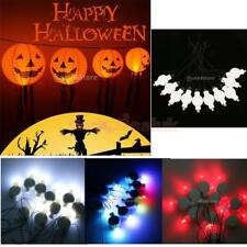 Halloween Decorative Jack O Lantern Pumpkin Paper Lanterns with 10PCS LED Bulb