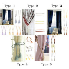 PACK 2 Decorative Tassel Curtain Tieback Tie Back Holdback Curtain Buckle DIY