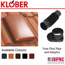 Klober Universal Tile Vent and Cap | Soil Mechanical Adaptor and Flexi-Pipe