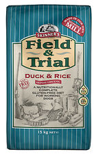 Skinners Field & Trial Adult Duck And Rice 15kg Dry Working Dog Food Damaged