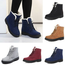 Women's Classic Fashion Boots Womens Snow  Suede Fabric Short Boots Winter Warm