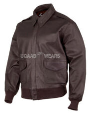 USAF Pilots A2 Flight Aviator Military Classic Pilot Bomber Real Leather Jacket