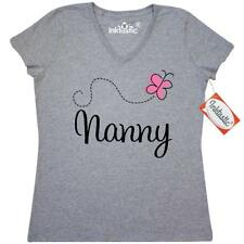 Inktastic Cute Nanny Gift Women's V-Neck T-Shirt Pretty For Worlds Best Greatest