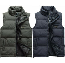 Mens Fashion Winter Duck Down Puffer Waistcoat Casual Stand Collar Vest Coat