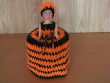 1 TOILET ROLL DOLL COVER, CROCHET and KNITTED HAND MADE