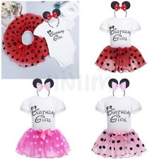 Minnie Mouse Princess Birthday Girl Party Kids Baby Girls Dot Tutu Dress Clothes