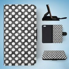 POLKA DOTS PATTERN 21 FLIP WALLET CASE COVER FOR IPHONE 6 / 6S