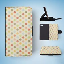 RAINBOW POLKA DOTS PATTERN #4 FLIP WALLET CASE COVER FOR IPHONE 7