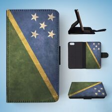 SOLOMON ISLANDS COUNTRY FLAG  FLIP WALLET CASE COVER FOR IPHONE 5 / 5S / 5SE