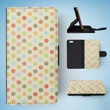 RAINBOW POLKA DOTS PATTERN #4 FLIP WALLET CASE COVER FOR IPHONE 6 / 6S