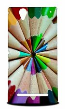 RAINBOW COLORFUL PENCILS #3 HARD CASE COVER FOR SONY XPERIA T2 ULTRA