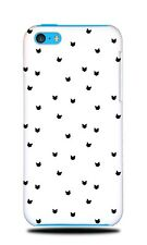 BLACK CAT HEAD PATTERN HARD CASE COVER FOR APPLE IPHONE 5C