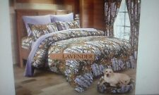 12 PC LAVENDER WOODS  COMFORTER,SHEET AND CURTAIN  SET.   ALL SIZES, 16 COLORS