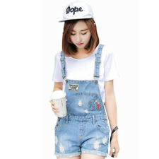 Denim Shorts Overall Casual Skinny Jumpsuit Jeans Pants Playsuit Women Romper