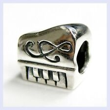 925 Sterling Silver Music Instrument Piano Note Bead for European Charm Bracelet
