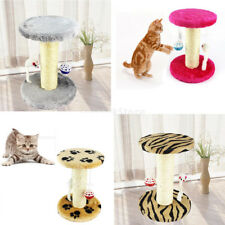 Sisal Cat Scratching Post Cat Scratcher Crawling Cyclinder Pet Toy W/ Mouse Ball