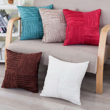 Removable Throw Square Pillow Case Cushion Cover Pleated Cloth Art Decor