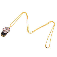 Crystal Flower + Leaf Jewelry USB2.0 Flash Memorry Drive Pendrive & Necklace