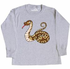 Inktastic Cute And Cuddly Ball Python Snake Youth Long Sleeve T-Shirt Pets Herp