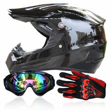 DOT Motorbike Motorcycle Rider Full Face Helmet+Goggles+Gloves Motocross Race FS