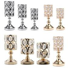 Retro Crystal Votive Candle Holder Tealight Candlestick Wedding Xmas Table Decor