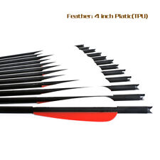 """6/12/24 pcs 20"""" Carbon Arrows Crossbow Bolts Black for Archery Hunting Crossbow"""