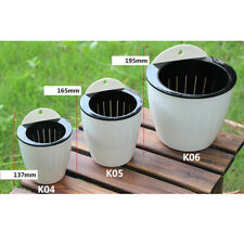 Self Watering Plant Flower Pot Garden Wall Hanging Plastic Planter 4 Colors