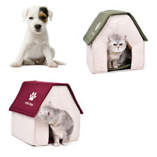 Pet Dog Cat Bed House Portable Puppy Dog Kennel Cave Nest Igloo Pad Cozy Cushion