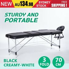 Portable Aluminium Massage Table 3 Fold Beauty Therapy Bed Chair Waxing 70cm DSW