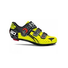 SIDI Genius 5 Fit Road Cycling Shoes Bike Shoes Black/Yellow Fluo Size 36-46 EUR